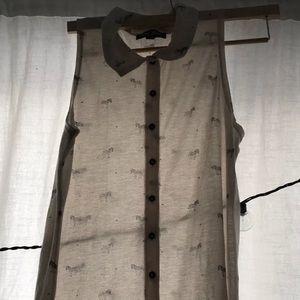 ModCloth Miss Cherry Zebra Print Sheer Tunic sz 12